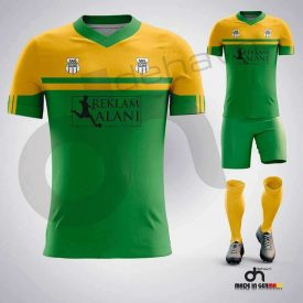 Asist Yeşil-Sarı Dijital Halı Saha Forma