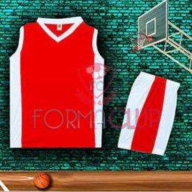 Basketbol Forması Kırmızı/Beyaz