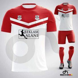 Victory Beyaz-Kırmızı Dijital Halı Saha Forma
