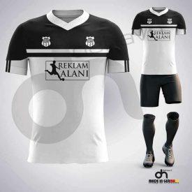 Asist Siyah-Beyaz Dijital Halı Saha Forma