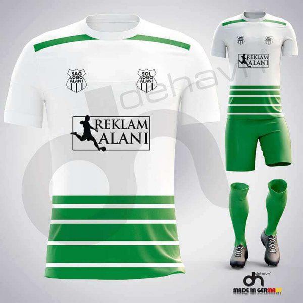 Real Beyaz-Yeşil Dijital Halı Saha Forma