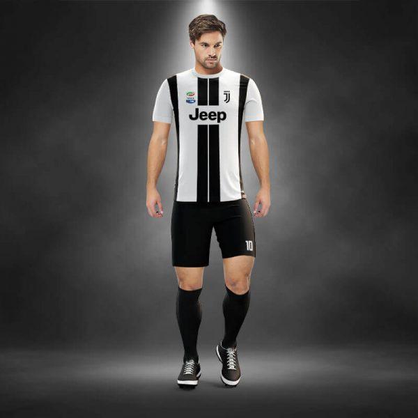 Juventus Siyah-Beyaz Dijital Halı Saha Forma