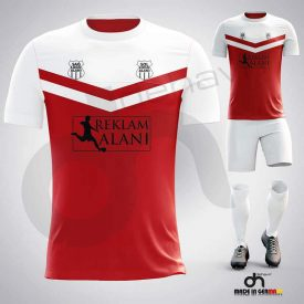 Victory Kırmızı-Beyaz Dijital Halı Saha Forma