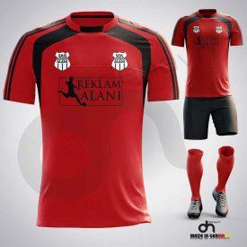 Zed Kırmızı-Siyah Dijital Halı Saha Forma