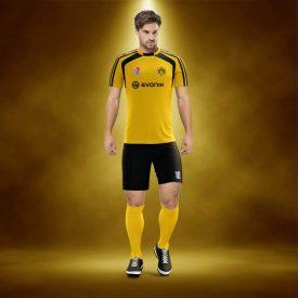 Zed Sarı-Siyah Dijital Halı Saha Forma