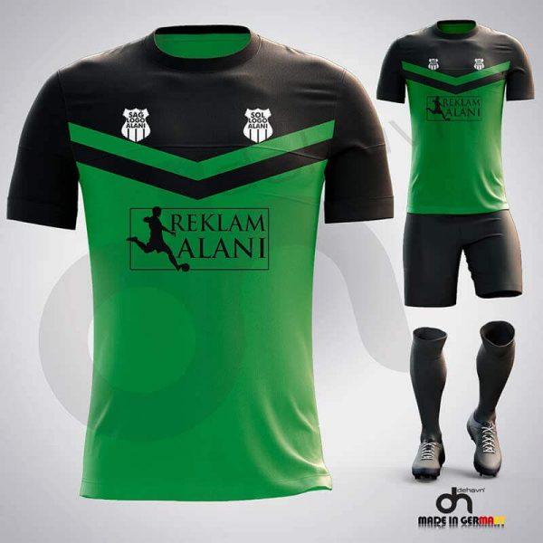 Victory Yeşil-Siyah Dijital Halı Saha Forma