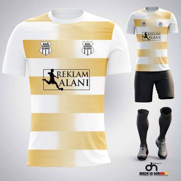 Dortmund Beyaz-Gold Dijital Halı Saha Forma