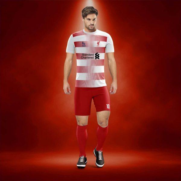 Dortmund Beyaz-Kırmızı Dijital Halı Saha Forma