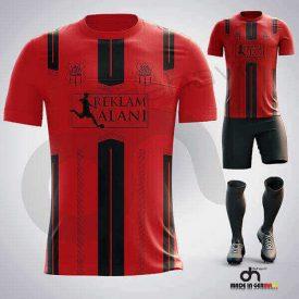BVB Kırmızı-Siyah Dijital Halı Saha Forma